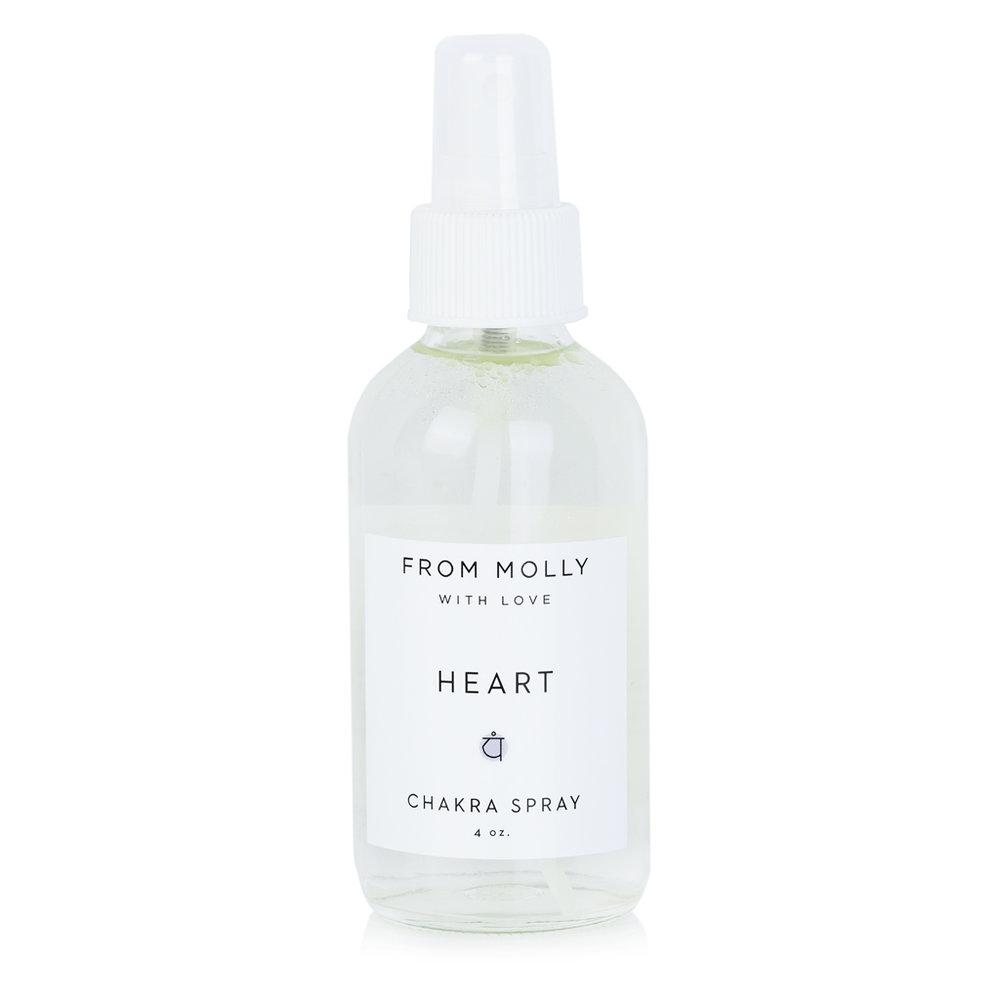 FROM MOLLY WITH LOVE  -HEART CHAKRA SPRAY  $18