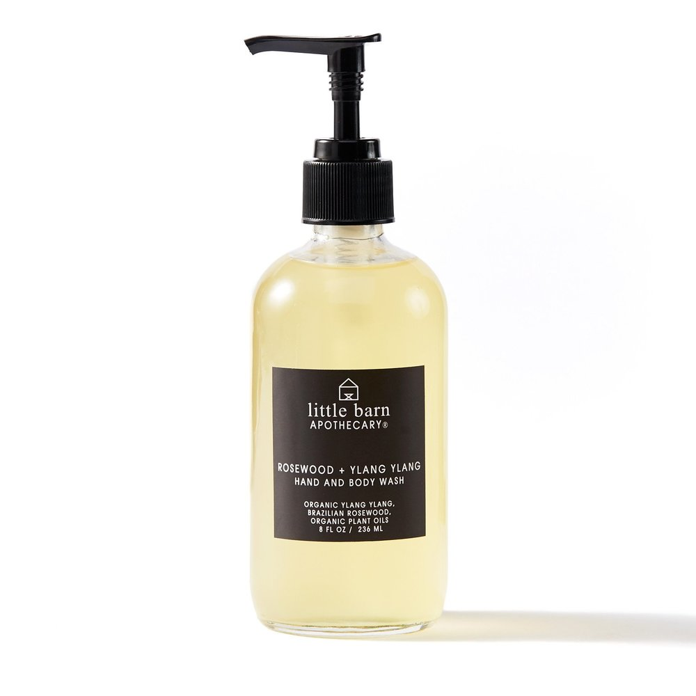 LITTLE BARN  - ROSEWOOD + YLANG YLANG HAND AND BODY WASH   $16