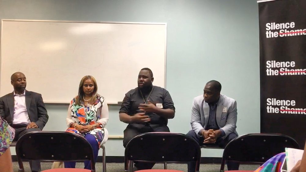 Free The Vision speaking on Black Men & Mental Health Panel
