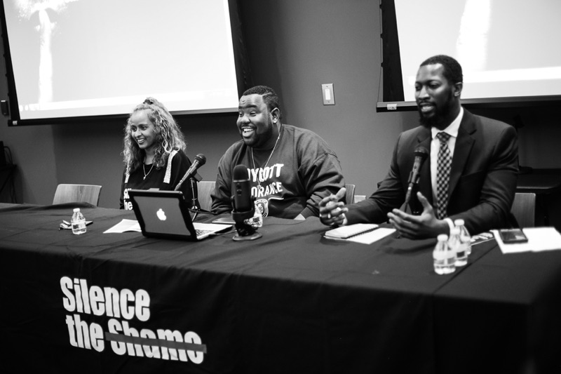 Free The Vision moderating the Silence the Shame Panel @ the A3C Music Festival