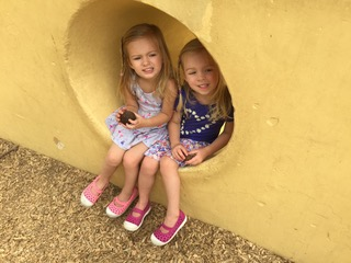 Burnham Grandchildren Madelyn and Audrey on a recent trip to Caper Acres 2017