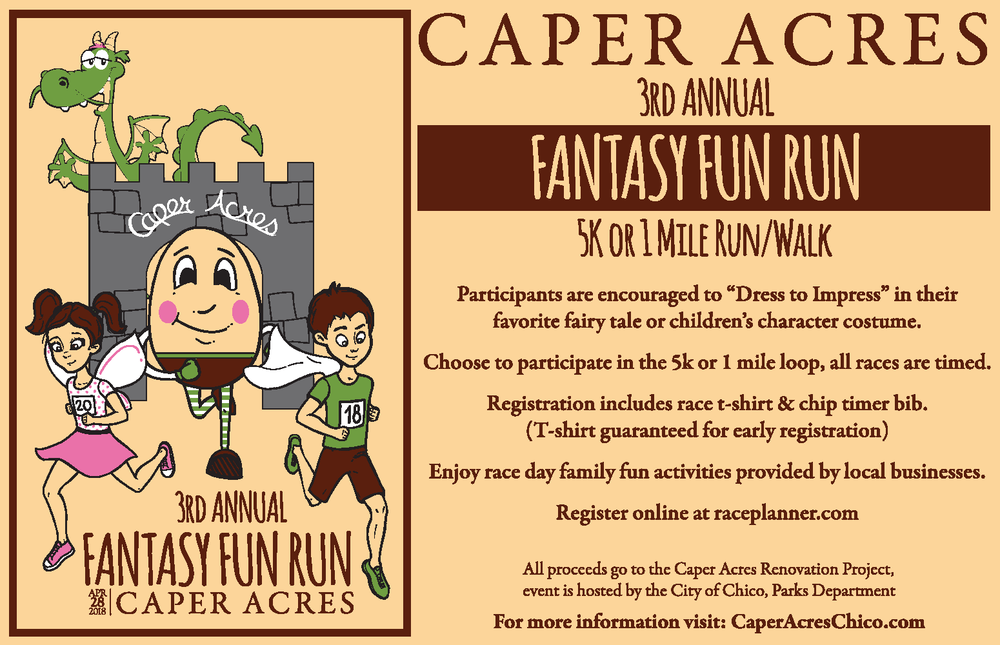 Join us on Saturday, April 28th, 2018 and help Re-Build the Caper Acres Magic with this fundraising event - REGISTER TODAY at Raceplanner.com