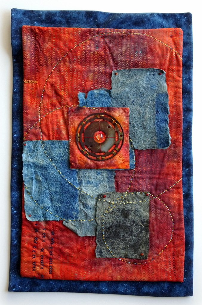 Martha Jane Petersen, Fiber Art, Quilted Art Wall Pieces, The Red House, Black Mountain-012.jpg