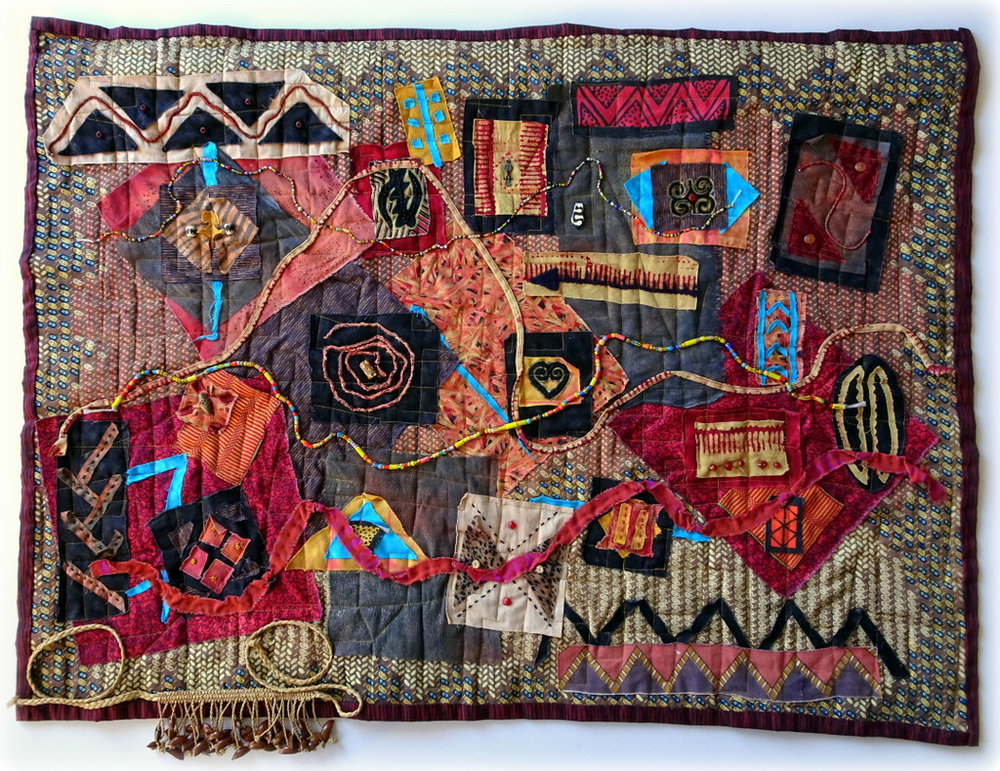 Martha Jane Petersen, Fiber Art, Quilted Art Wall Pieces, The Red House, Black Mountain-020.JPG