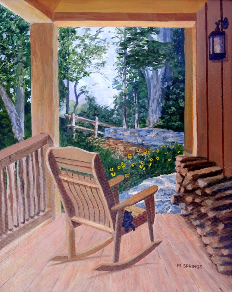 Marsha Springs, Fine Art Painting, Swannanoa, NC, The Red House-004.JPG