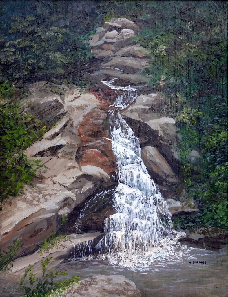 Marsha Springs, Fine Art Painting, Swannanoa, NC, The Red House-010.JPG
