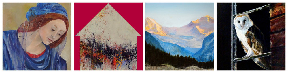 Details from the artwork of: CAROL HALTON, GRETCHEN CHADWICK, CHARLOTTE SPRAWLS and MARTHA RAINES