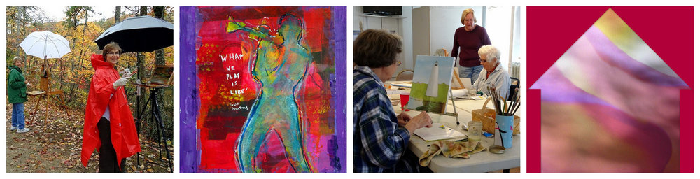 Details from the artwork of: EILEEN ROSS and NANCY HOOPES.