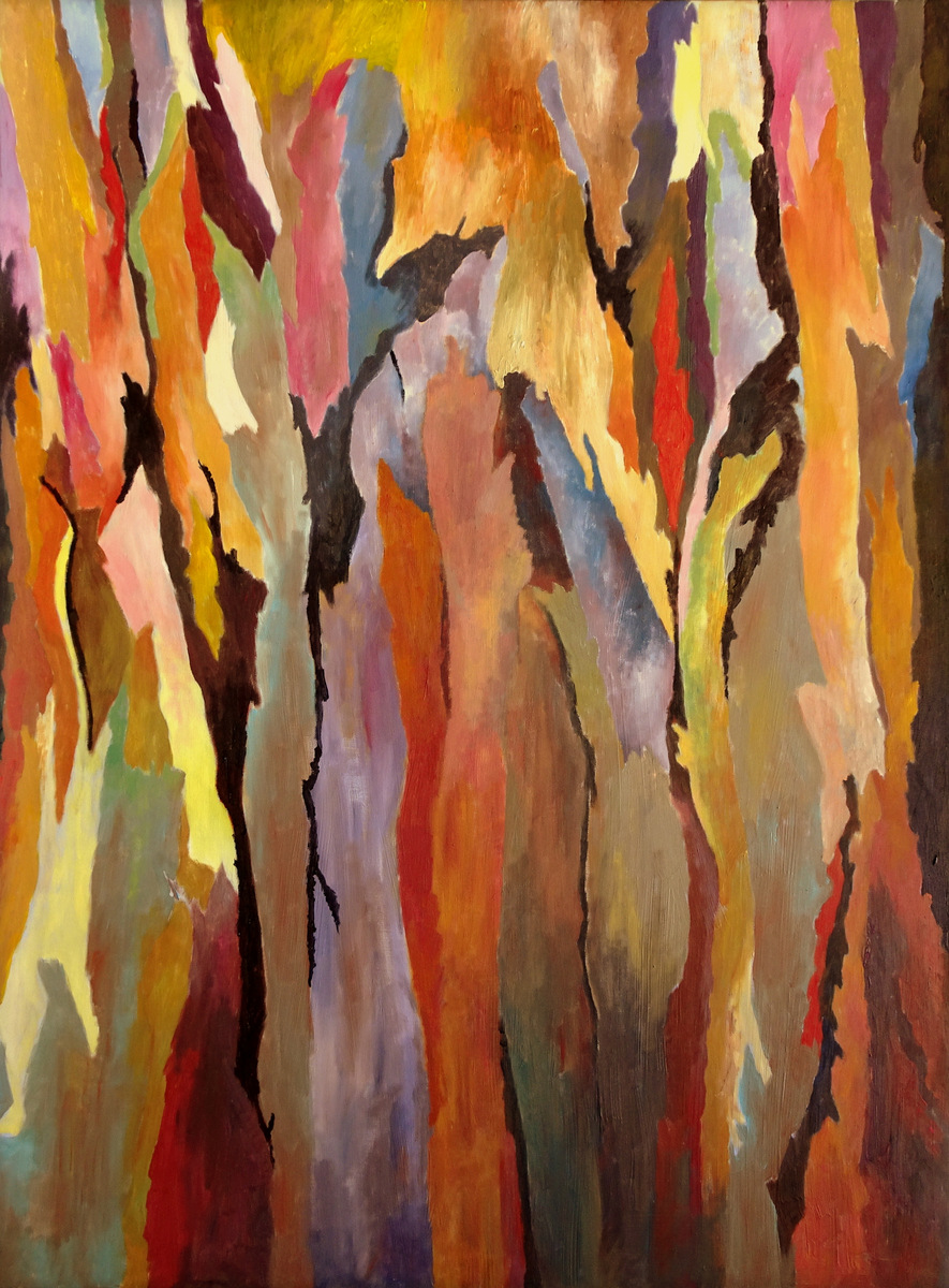Nora Mosrie, Tree Bark Painting Series, SVFAL-001.JPG