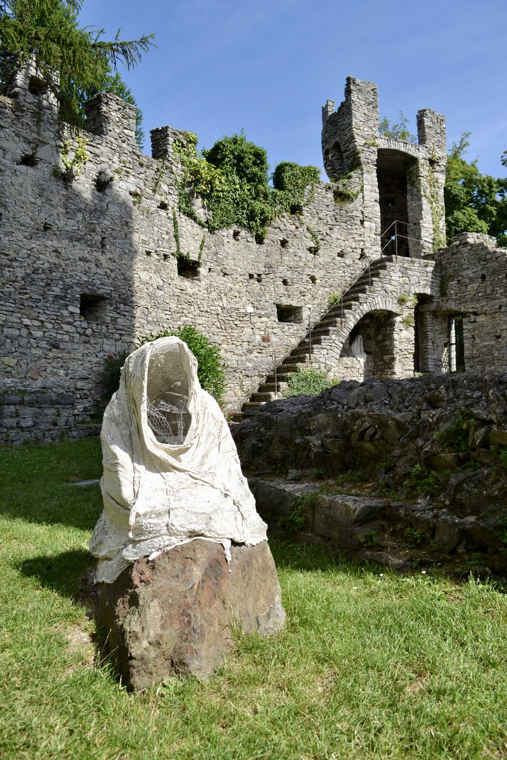 Sculptures in the courtyard