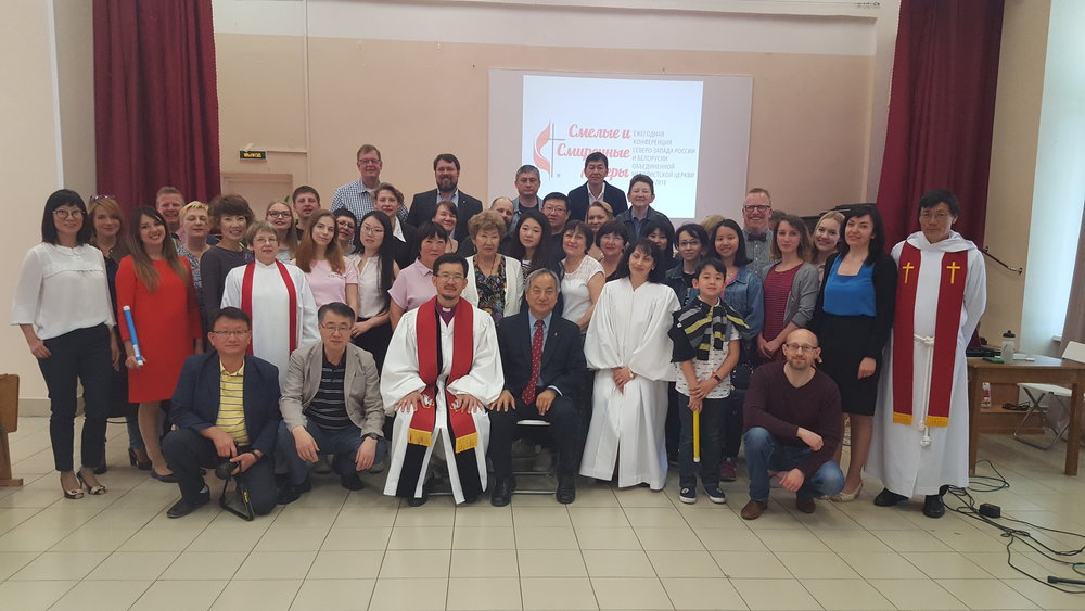 Bishop Khegay and members of the Eurasian Conference of the United Methodist Church with Bishop Jung and Pastors Scott Carlson, Gary Holmes, Inhwa Shon from Wisconsin.