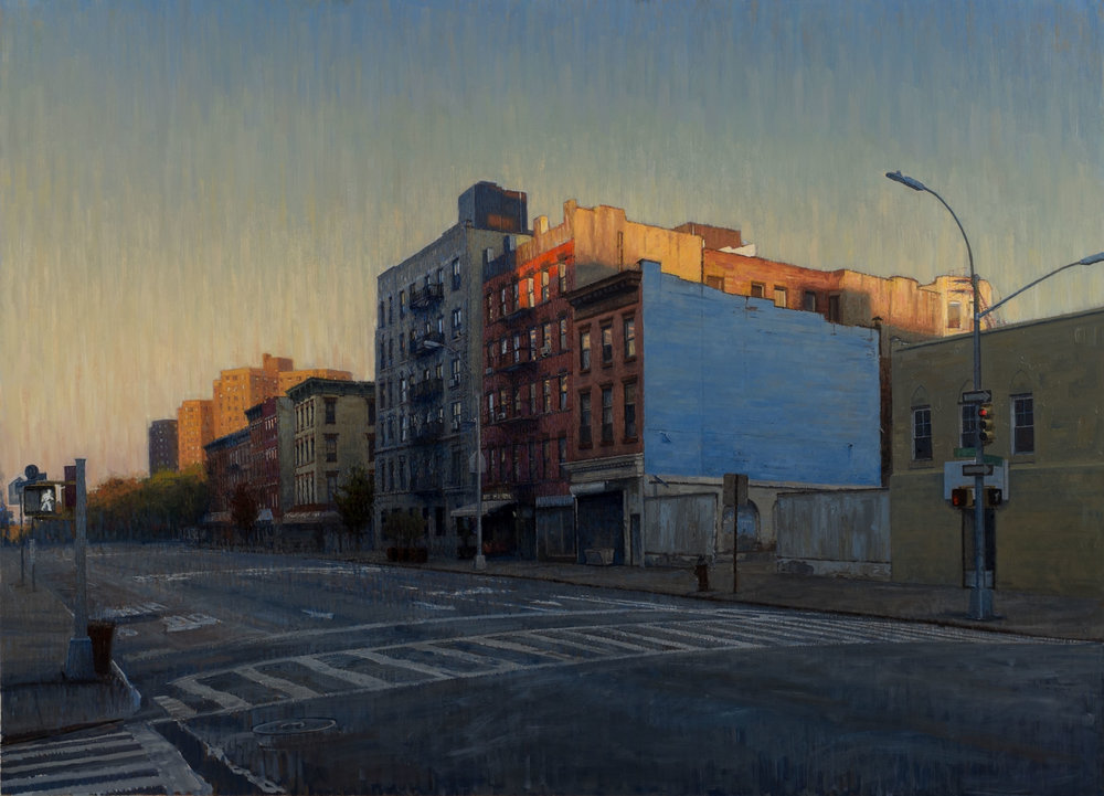 "Second Ave.  Acrylic 32""X 40"""
