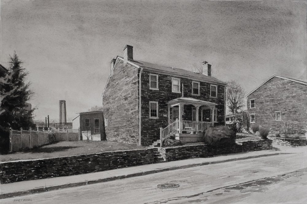 "Clipper Mill House  Watercolor 11""x16"""