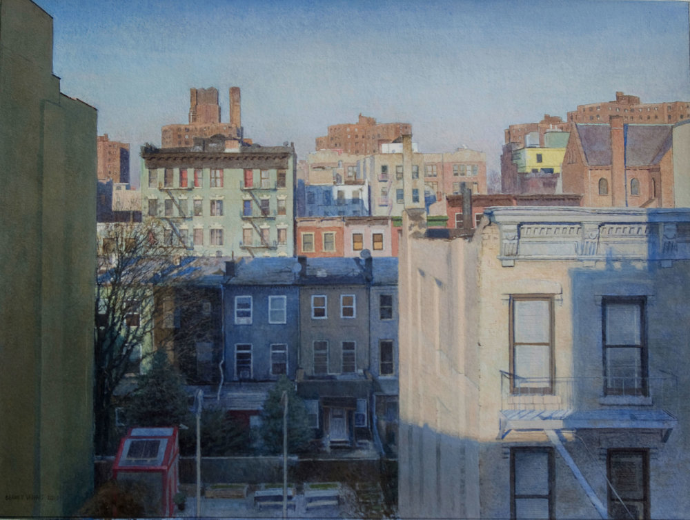 "117th St.  Acrylic 12""x16"""