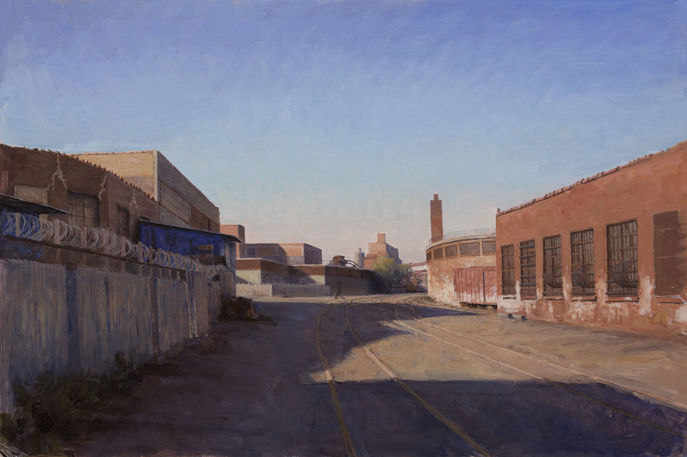 "Morgan Ave.  Acrylic 15""x30"""