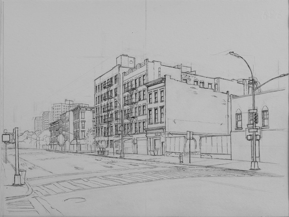 "118th St.  Ink 11""x14"""