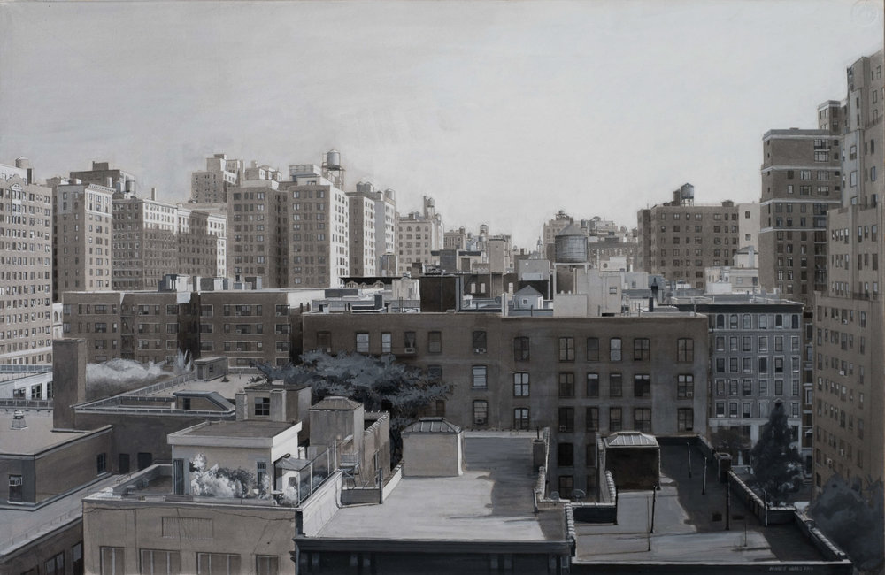 "Upper West Side Balcony  crylic 20""x30"""