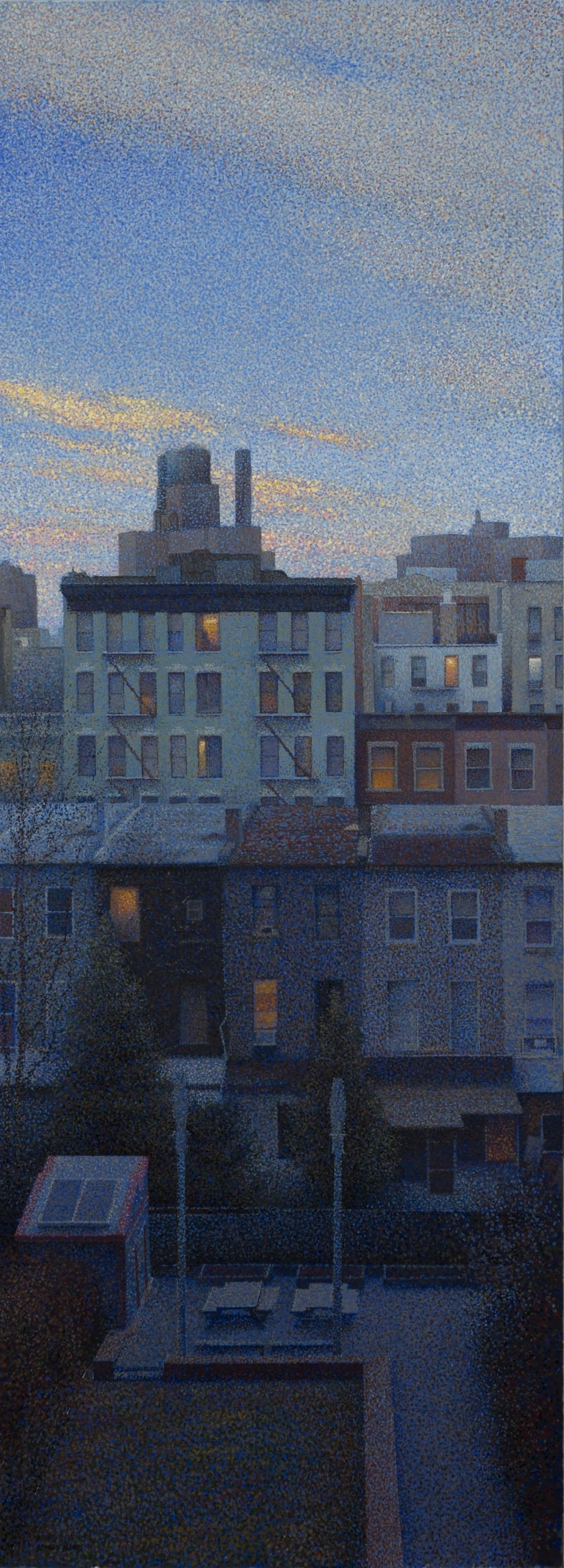 "Neighbors #2  Acrylic 18""x48"""