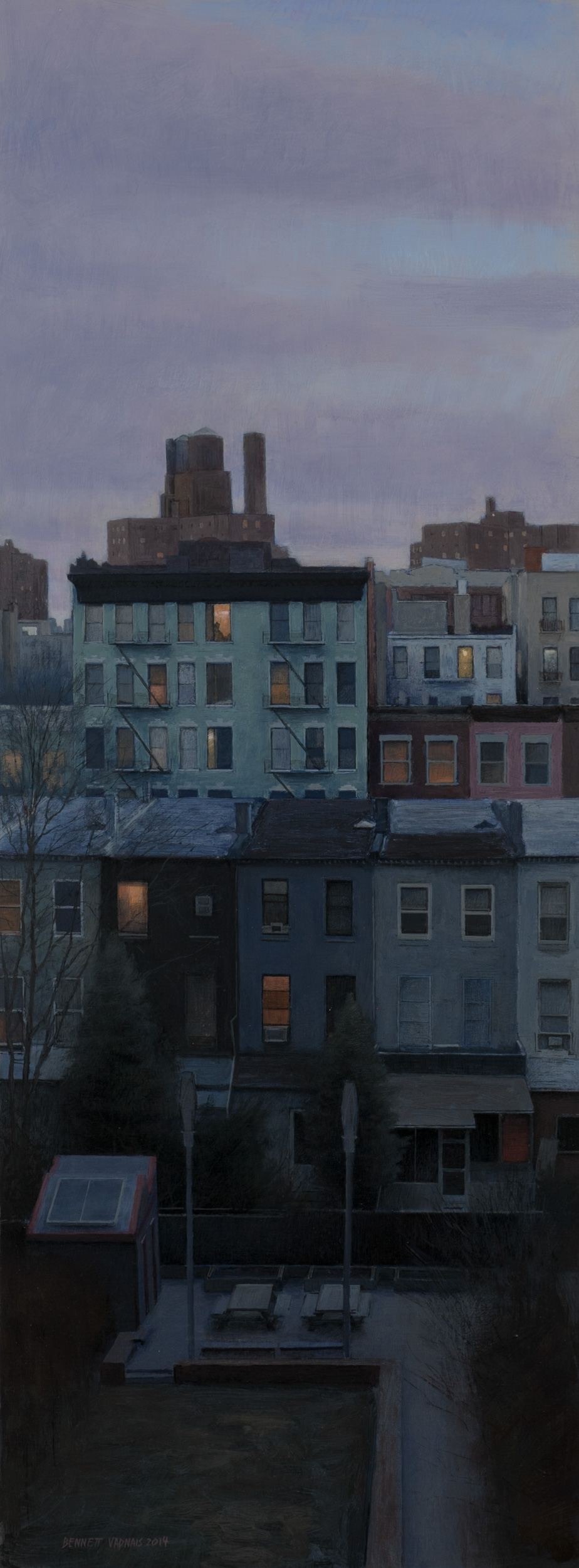 """Neighbors  Acrylic 11""""x32"""""""