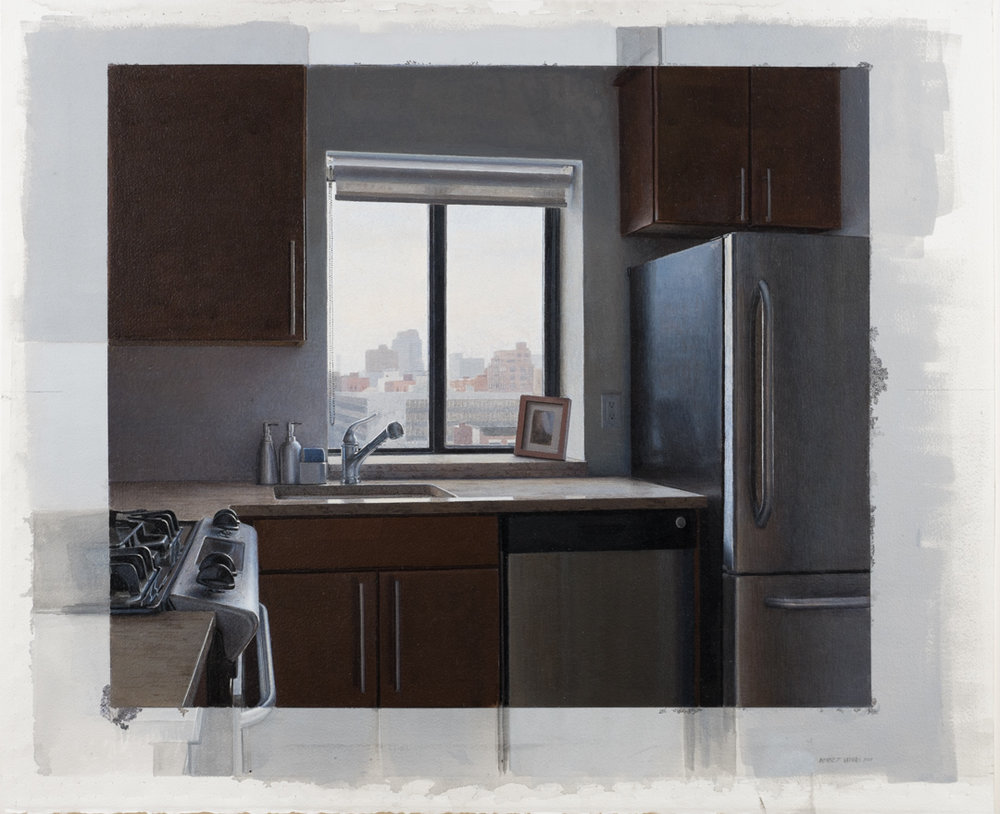 Kitchen Window  Acrylic 20.5x22.5