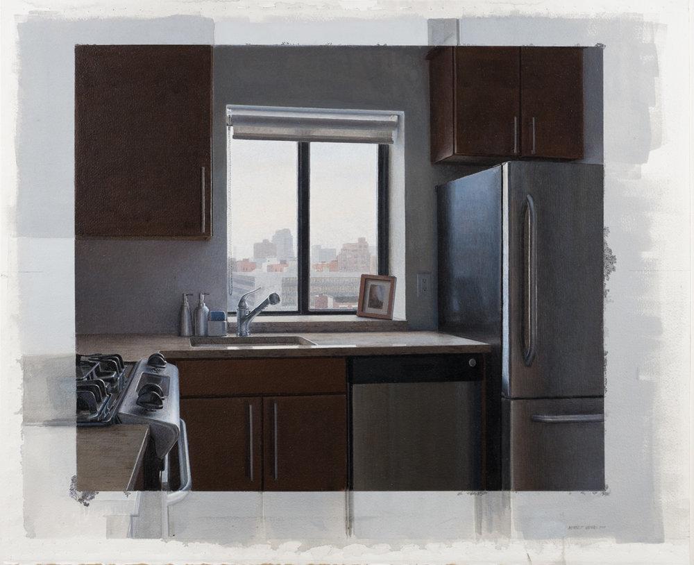 Kitchen Window  Acrylic 20.5x22.5