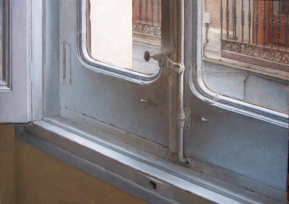 "Madrid Window  Oil 14""x19"""