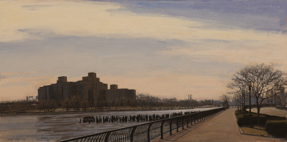 "East River Path  Acrylic 10""x20"""