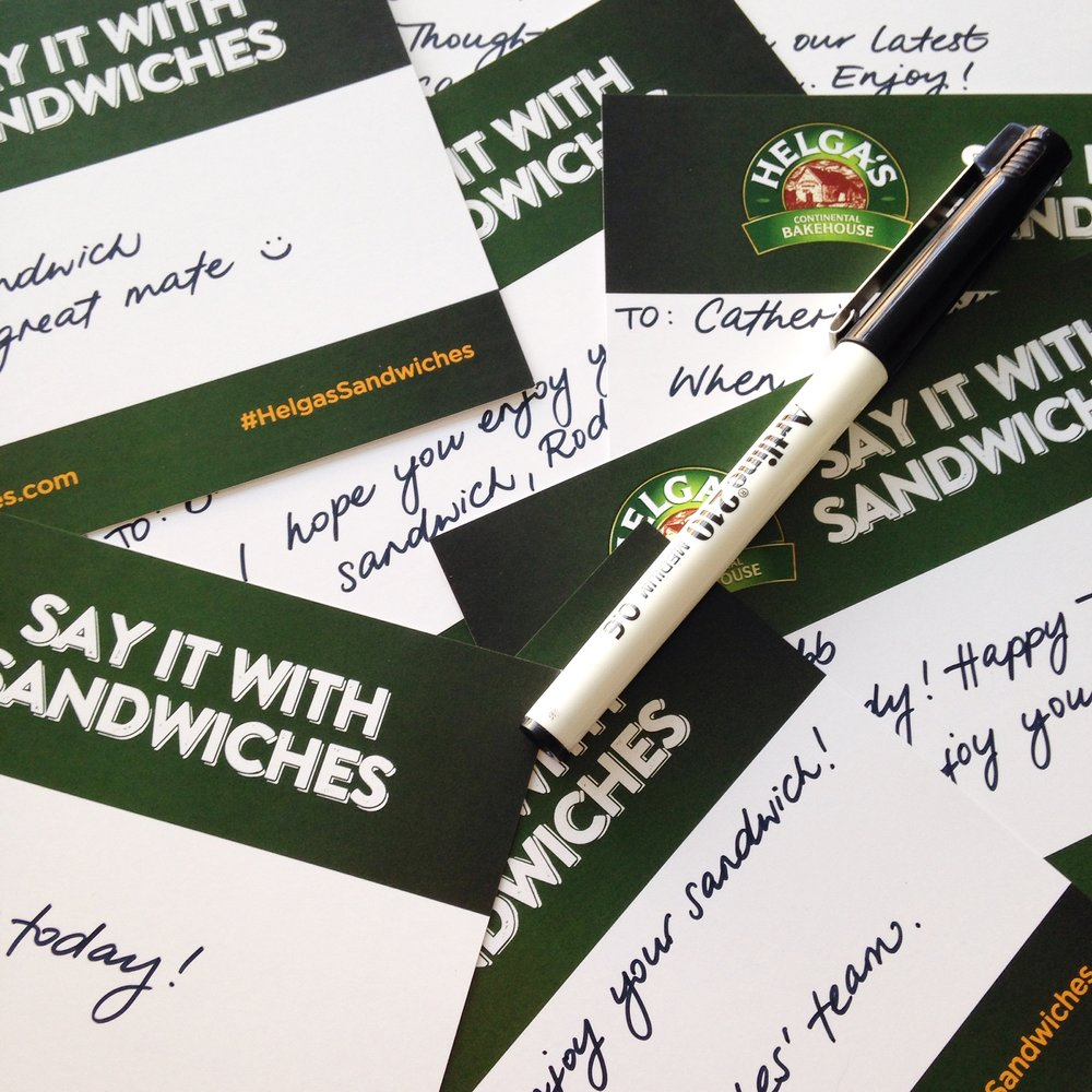 Helga's Say it with Sandwiches campaign