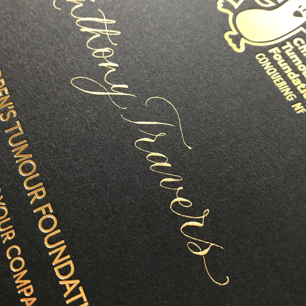 Invitation calligraphy