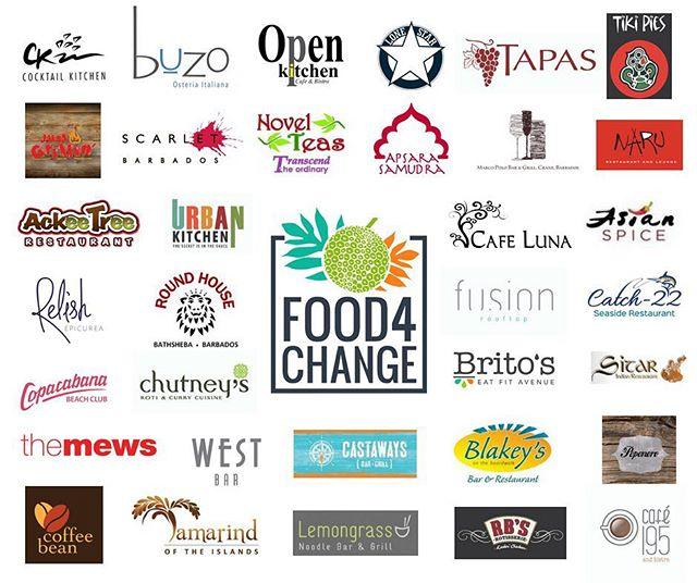 When 34 restaurants join together to #fighthunger Big Change happens!  Thank you to @ckbarbados @buzobarbados @openkitchenbarbados @lonestarbarbados @tapasbarbados @tikipies @justgrillinbds @novelteasbarbados @apsarasamudra @marcopolobar @narurestaurant @ackeetreerestaurant @urban_kitchen_bim @cafelunabarbados @asianspiceindianrestaurant @relishbarbados @roundhousebarbados @fusionrooftop @catch22.barbados @copacabanabb @chutneysbim @britosbarbados @sitarbarbados @themewsbarbados @westbarbarbados @castawaysbarbados @blakeysontheboardwalk @pepenerobarbados @coffeebean246 @lemongrassbarbados @rbschicken @195cafe for participating in Food4Change 2018!  #Food4Change #FeedingBarbadosTogether #RestaurantMonth #ThankYou