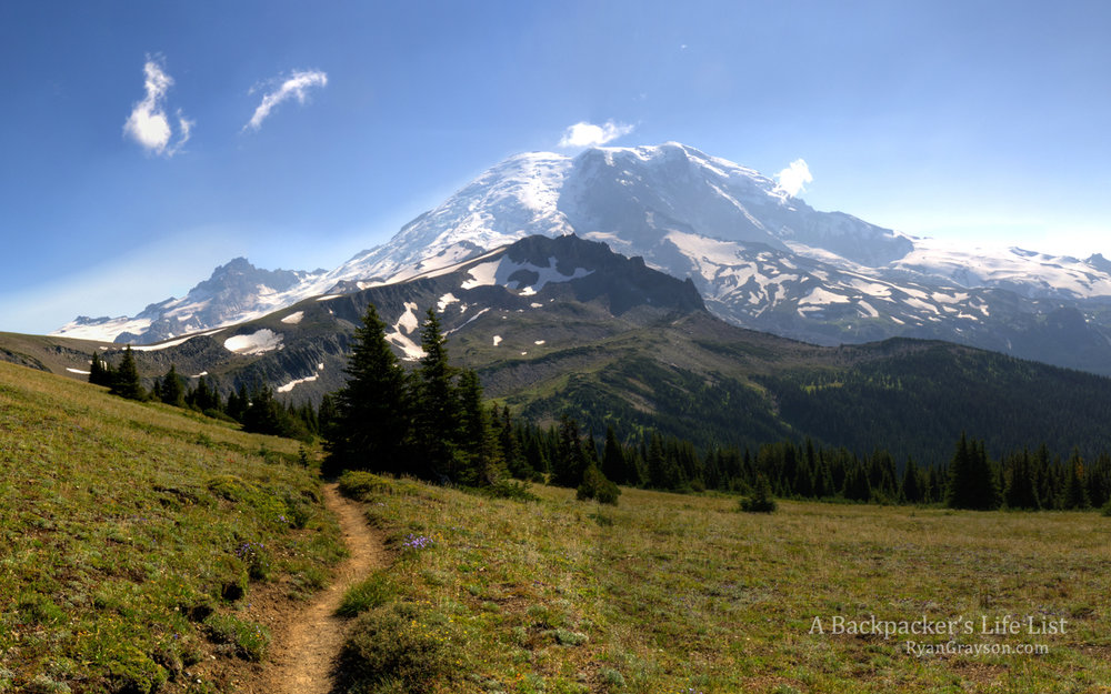 Mount Rainier From the Wonderland Trail