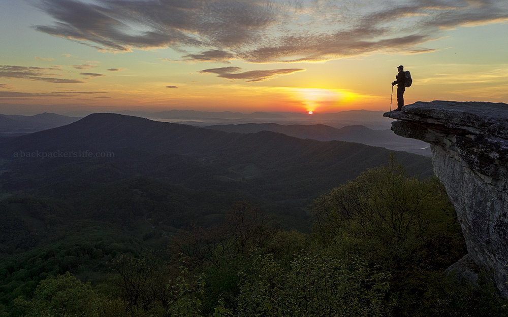 Sunrise on Mcafee Knob