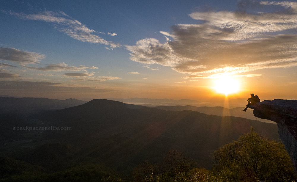 Sunrise at Mcafee Knob, Appalachian Trail