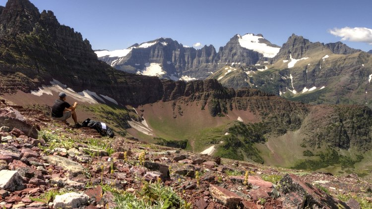 Lunch at Redgap Pass, Glacier NP, Montana