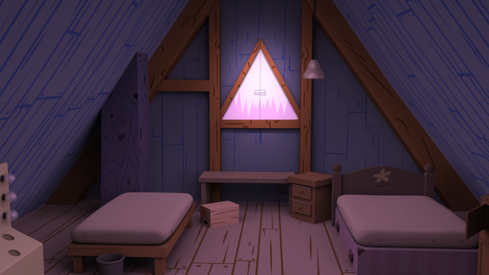 Gravity Falls Bedroom Mock Up - #1