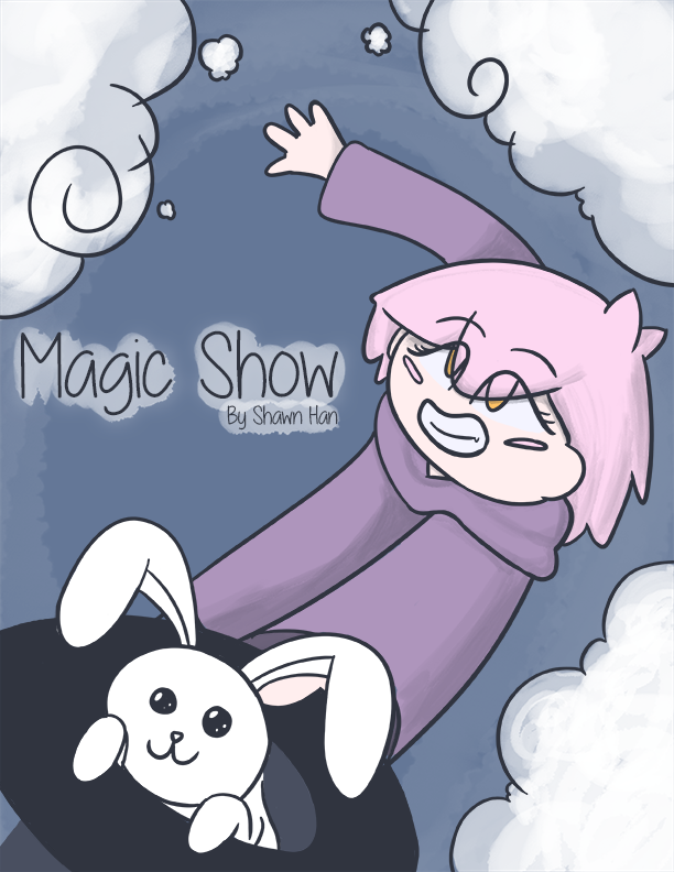 Early Poster Design for Magic Show, still uses the early version of Luna's design.