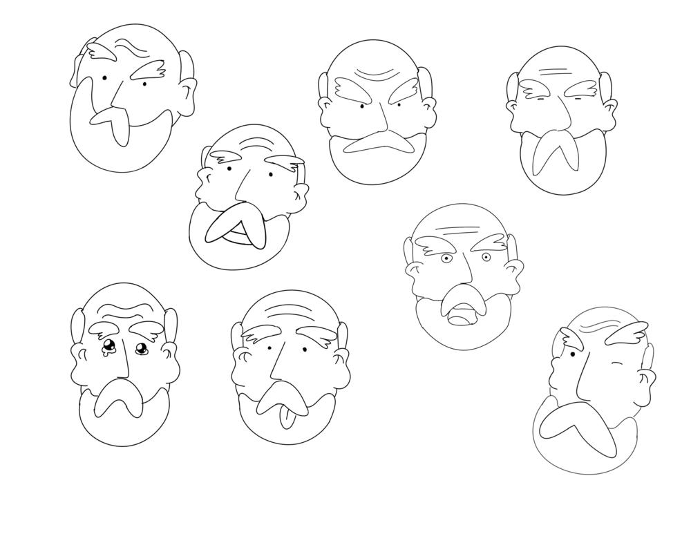 Noah's Expression Sheet