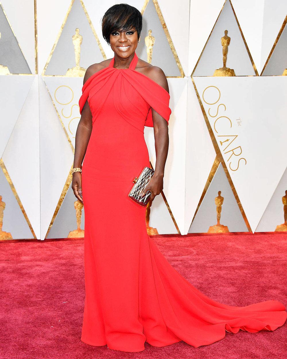Viola Davis wearing Armani