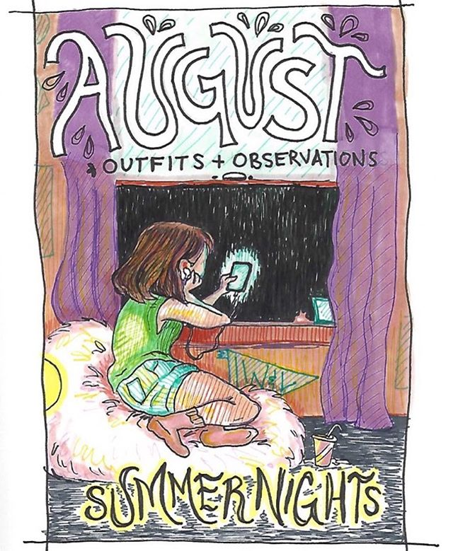 the august playlist is devoted to new music, and it's up now! playlist by claire & art by darcy!