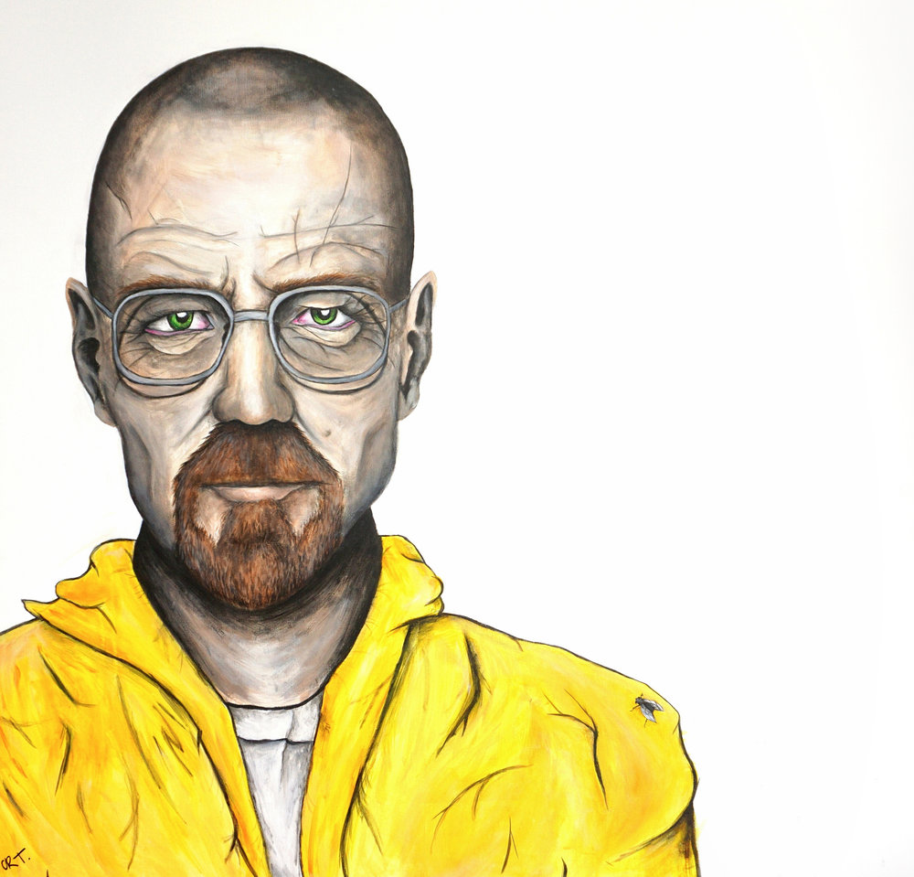 W.W  100cm x 100cm Acrylic on Canvas 2017
