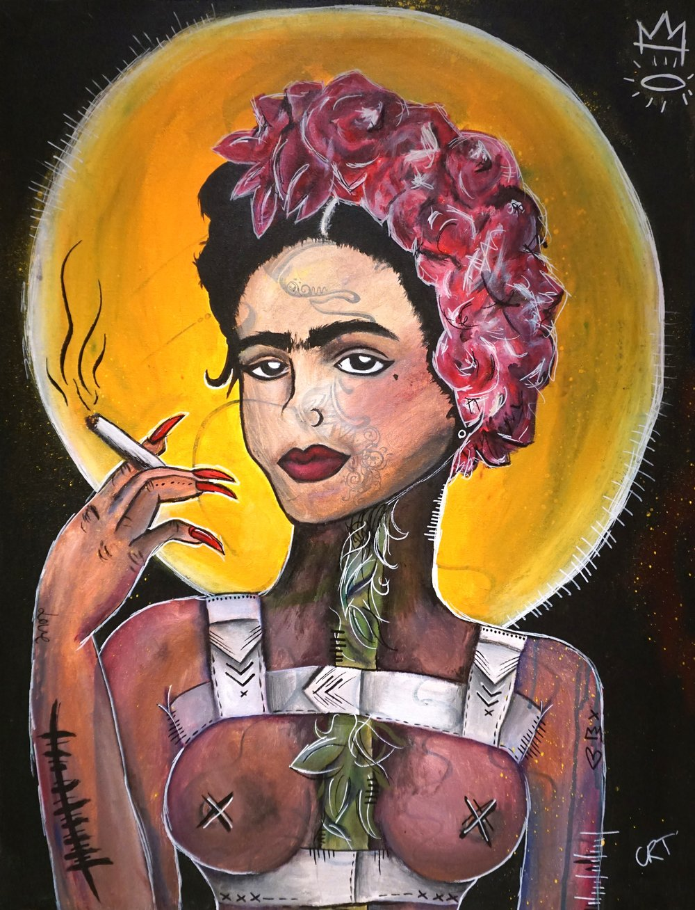 Frida, Frida, Frida  60cm x 82cm Acrylic on Canvas 2016  Sold