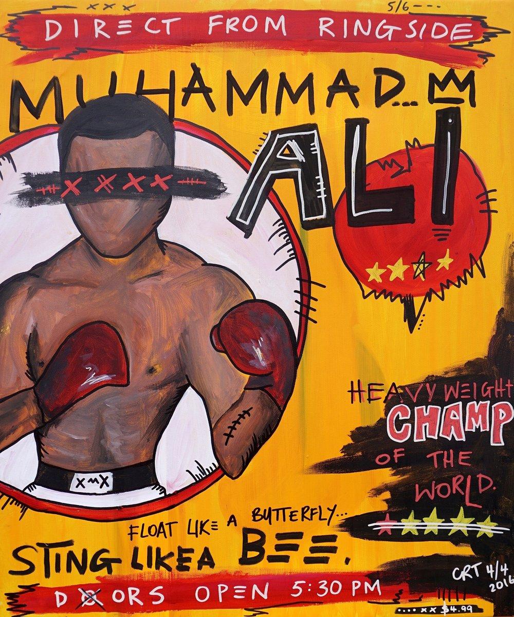 Ali  30cm x 50cm Acrylic on Canvas 2016  Sold