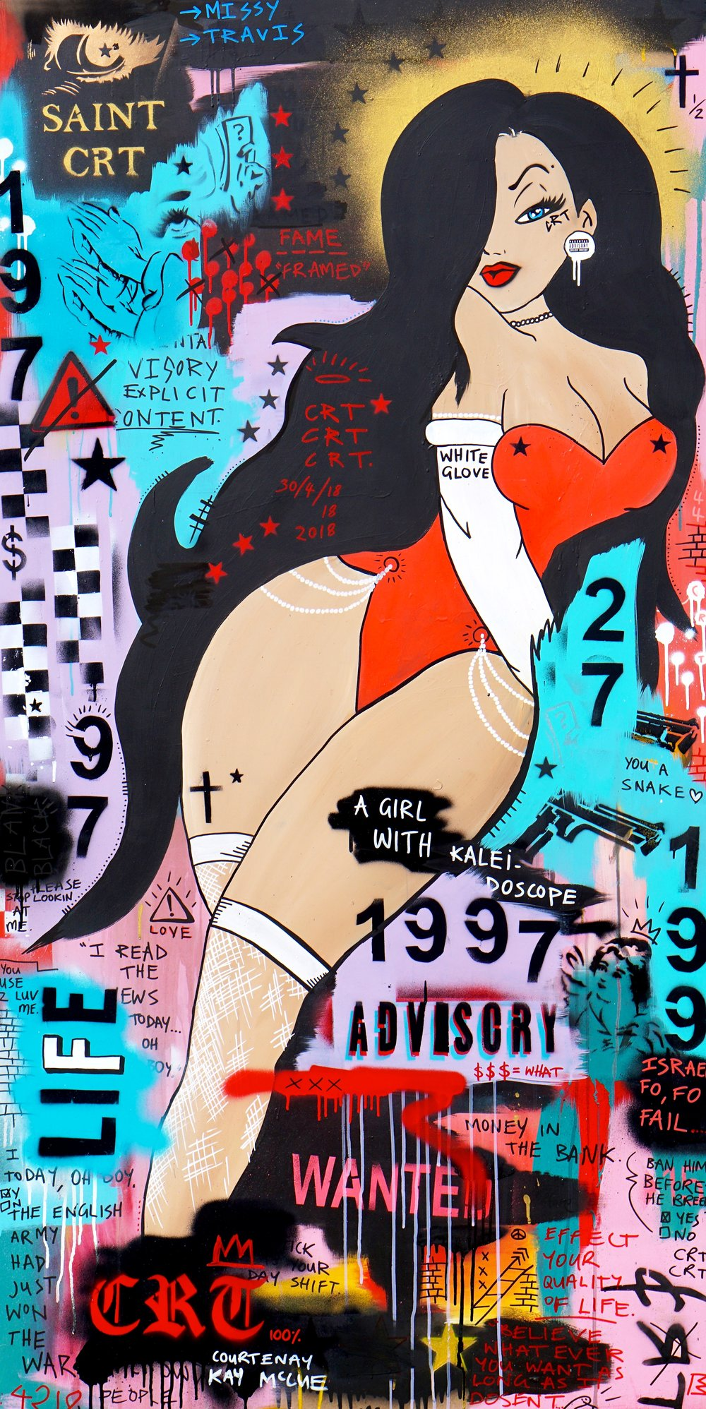 Jessica  92cm x 182cm Mixed Media on Board 2018  Sold