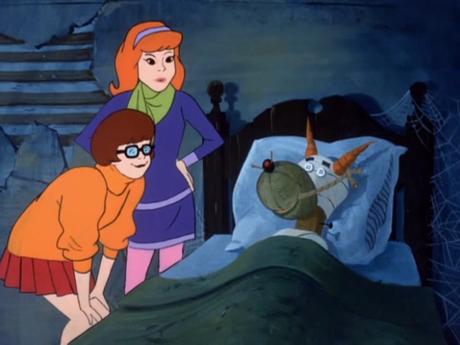 During hard times, Hanna-Barbera sometimes could not even afford Scooby stand-ins for re-shoots.