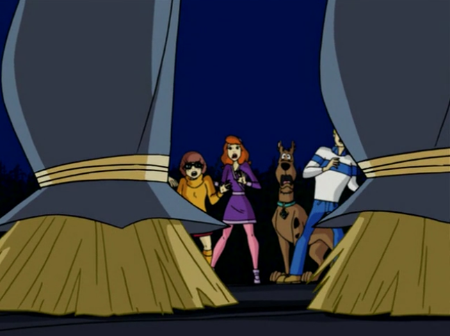 Scooby-Doo sets the Guinness World Record for least-sexy use of a between-the-legs shot.