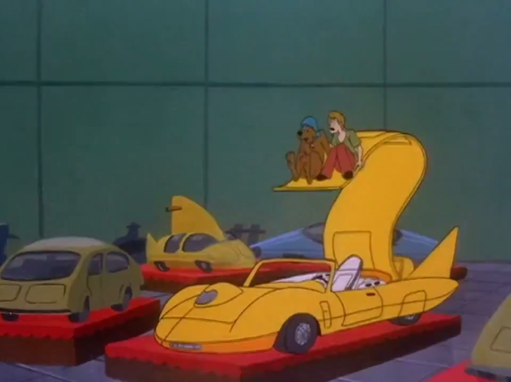 "Shaggy: ""Zoinks! Let's make like a banana (or this car) and SPLIT!"""