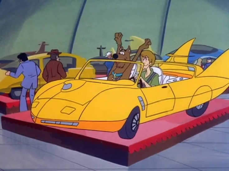 """Shaggy:""""Scoob, I'm gonna turn off the radio if you can't sit still through  Party in the USA ."""""""