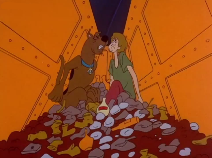We like to think that the compactor walls are a segment of our listeners, and Scooby and Shaggy the two of us co-hosts.