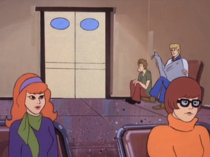 It sure was nice of them to give the rest of the gang a waiting room to bide their time between lines.