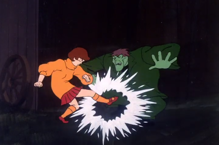 Fun fact: In every episode of Scooby-Doo Velma kicks at least one crotch (often off-screen).